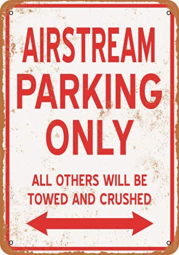 Wall-Color 9 x 12 Metal Sign - Airstream Parking ONLY - Vintage Look