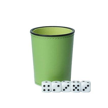 New Dice Cup Black Plastic w Green Cloth Lining Yahtzee