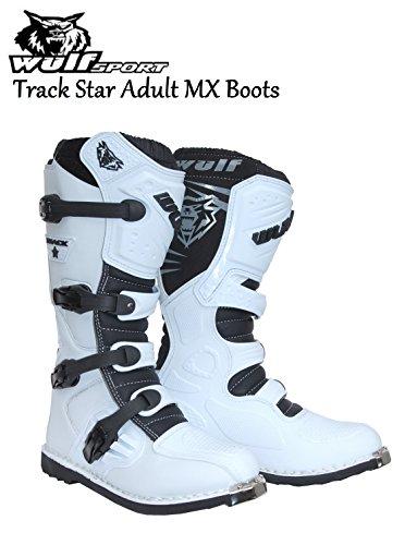 WULFSPORT TRACK STAR MX ADULT BOOTS NEW 2016 Motorbike Motocross Quad Sport...