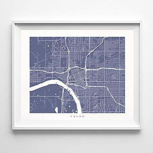 Home Decor Tulsa: Amazon.com: Tulsa Oklahoma Street Road Map Home Decor