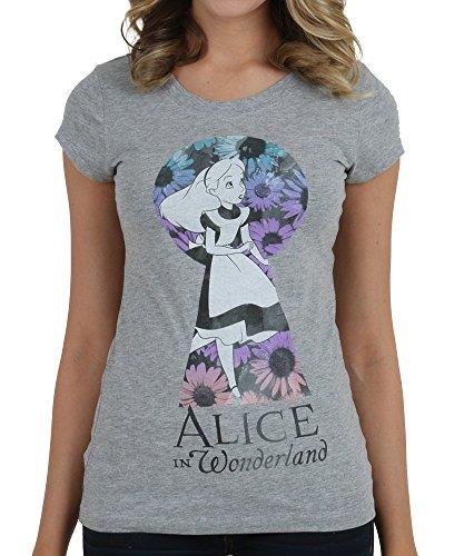 Mighty Fine Juniors T-shirt - Alice In Wonderland Through Keyhole Disney Movie Mighty Fine Juniors T-Shirt Tee