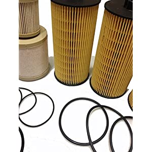 Alpha Dog FD-4604 and FL-2016 filter set 2003 - 2007 Ford 6.0L Diesel Fuel and Engine Oil Filter (pack of 3 each) Ford F250 F350 F450 F550