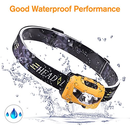 STCT Waterproof Rechargeable Headlamp,CREE LED Headlamp Flashlight for Running, Dog Walking, Camping, Hiking, Fishing, Cycling, Night Reading and DIY Work (waterproof red light) Purple