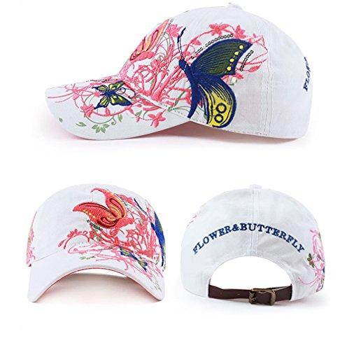 playa fiesta etc para para ideal viajes diseño mariposa de deportes Sombrero mujer y solar con Qchomee protección rosa de mariposa béisbol 7UZFxH