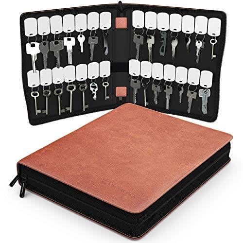 Portable Zippered Key Case