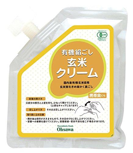 Organic silken brown rice cream (tube containers)