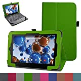 """RCA 10 Viking Pro 10.1 Case,Mama Mouth PU Leather Folio 2-folding Stand Cover with Stylus Holder for 10.1"""" RCA 10 Viking Pro Tablet,Green"""