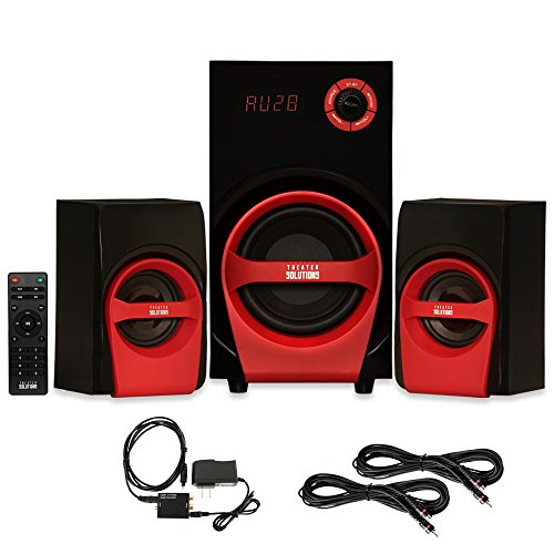 Theater Solutions TS215 Home 2.1 Speaker System Optical - Optical Surround Sound System