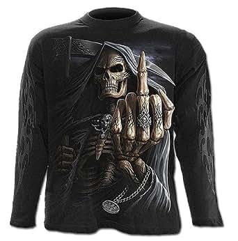 Spiral–Camiseta–Bone Finger–Camiseta de manga larga, color negro negro negro XL