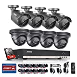 ANNKE 8-Channel 960P Security Camera Sysetm with 1TB Hard Disk Drive 1080N Digital Video Recorder and (8) 1.3MP Outdoor CCTV Cameras with 3.6mm Large Aperture Lens, Motion Detection, IP66 Weatherproof