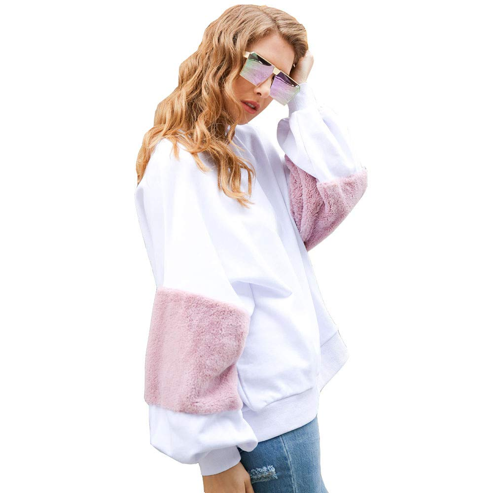 ❤ Sudadera de Felpa Mujer de Invierno, para Mujer de Manga Larga de Felpa Cuello Redondo Sudadera Blusa Tops Absolute: Amazon.es: Ropa y accesorios