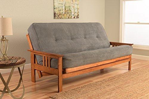 Kodiak Furniture KFMOBBMTHUNLF5MD3 Monterey Futon Set with Barbados Finish, Full, Marmont Thunder by Kodiak Furniture