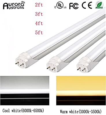 "Easy-Installing & Eco-Friendly T8 LED Tube Light - 3FT 24"" 14W (25W Equivalent), Double-End Powered, Milky Cover, Works from 85-265VAC Fluorescent Replacement Lamp"