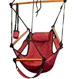 ZENY Hammock Hanging Chair Air Deluxe Sky Swing Outdoor Chair Solid Wood 250lb