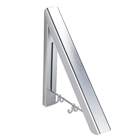 Percha Plegable Perchero de Pared Colgador de Ropa Abatible ...