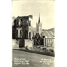 Ruins Of Old Wells Fargo Bldg Virginia City, Nevada Original Vintage Postcard