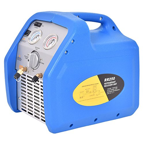 New HVAC Refrigerant Recovery Machine 110V 60Hz Compact Portable Unit Blue by MTN Gearsmith
