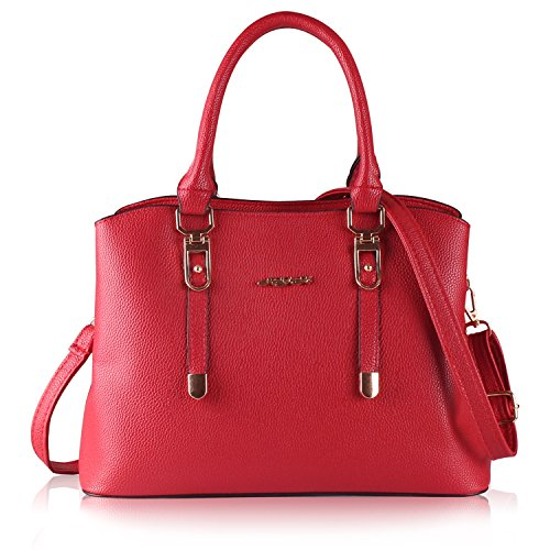 XYH Women Handbags Shoulder Bags Tote PU Leather Women's Handbag Large Capacity Bags Red Leather Purse Handbag