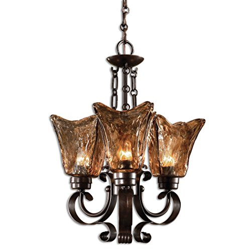 Uttermost 21008 Vetraio 3-Light Chandelier, Oil Rubbed Bronze Finish