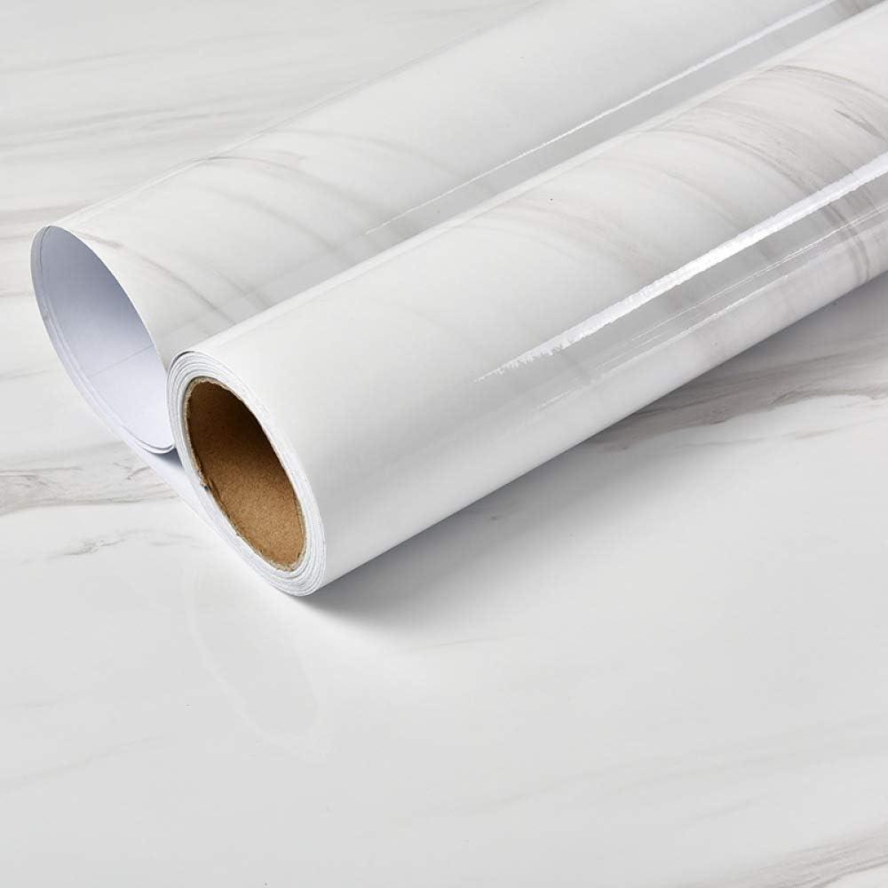 lsaiyy Pegatinas de mármol Grueso Autoadhesivo Impermeable PVC Cocina Aceite Pared Adhesivos Papel Tapiz- 60CMX3M