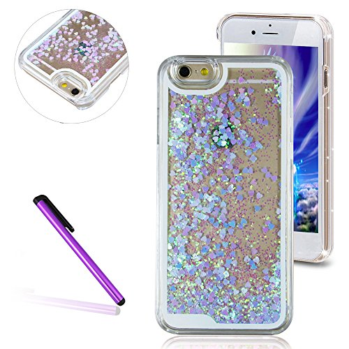 iphone-6-plus-6s-plus-case-emaxeler-fluorescent-heart-series-3d-glitter-liquid-floating-change-color