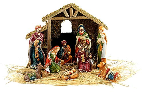 9pc Holiday Nativity Set]()