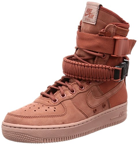 Nike W Sf Af1 - Dusty Peach/Dusty Peach Womens Style: 857872-202 Size: 8 (Air Force 1 Hi)