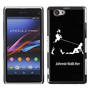 - Sex Funny Kidding - - Hard Plastic Protective Aluminum Back Case Skin Cover FOR Xperia Z1 Compact D5503 Queen Pattern