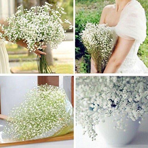 Meiyiu Plastic Wedding Flower Pretty Artificial Fake Gypsophila Babys Breath Flower Plant Home Wedding Decor