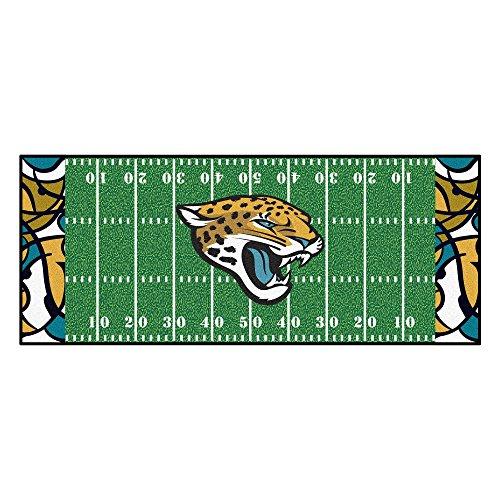 FANMATS NFL Jacksonville Jaguars NFL-Jacksonville Jaguarsfootball Field Runner, Team Color, One Size