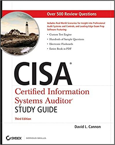 Amazon cisa certified information systems auditor study guide amazon cisa certified information systems auditor study guide 9780470610107 david l cannon books fandeluxe Gallery