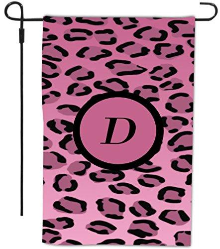 """Rikki Knight Letter """"D"""" Initial Light Pink Leopard Print ..."""