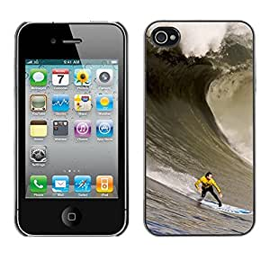 Eason Shop / Hard Slim Snap-On Case Cover Shell - Huge Wave Surfe - For iPhone 4 / 4S