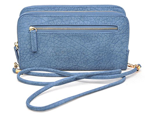 Urban Expressions Rochelle Crossbody Clutch Wallet (Blue) (Hardware Rochelle)