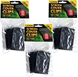 (3 Pack) Exo Terra Terrarium Cover Clip Set, Large, 2 Clips each