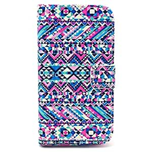 LIMME Abstract Tripal Carpet Pattern PU Leather Stand Case with Card Slot for Samsung Galaxy S4 I9500