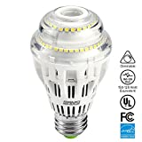 15W (150-125 Watt Equivalent) A19 Dimmable LED Light Bulb, 2000 Lumens, 5000K Daylight White, 270° Omni-directional, CRI 80+, E26 Medium Base, UL Listed, 5-year Warranty, SANSI
