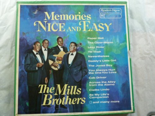 Reader's Digest LP Record Box Set MEMORIES NICE AND EASY THE MILLS BROTHERS. Long Play 33 1/3 Rpm Records. (Abcs Memory Box)
