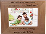 This picture frame is an ideal gift for any father. Show your love for dad, grandpa, papa, husband with this laser engraved wood picture frame. This picture frame makes a classic gift for years to come.