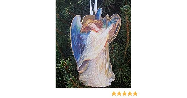 Handmade painted angel luggage tags
