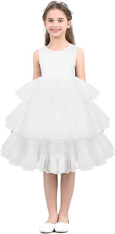 Filles Mariage Robe de Soirée Princesse Cérémonie Demoiselle d'Honneur 2-8 Ans