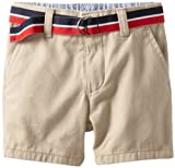 Tommy Hilfiger Baby Boys' Charlie Flat Front Short, Travel Khaki, 18 Months
