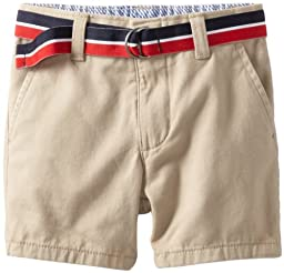 Tommy Hilfiger Baby Boys\' Charlie Flat Front Short, Travel Khaki, 24 Months