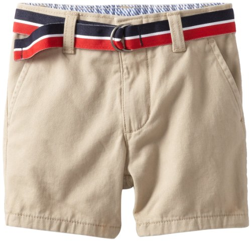 Tommy Hilfiger Baby Boys' Charlie Flat Front Short, Travel Khaki, 12 Months