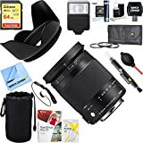 Sigma 18-300mm F3.5-6.3 DC Macro HSM A-Mount Lens Contemporary Sony Alpha Cameras (886-205) + 64GB Ultimate Filter & Flash Photography Bundle