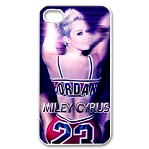 Hollywood Star Miley Cyrus Chicago Bull Michael Jordan Hard Case Cover Iphone 4S/4