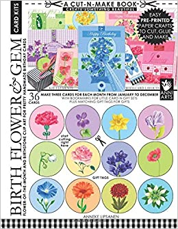 Birth Flower and Gem Card Kits Cut-n-Make Book: Flower-of-the-Month