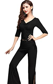 9f7e187969e4c YiJee Women Belly Dancing Tops Shirt Off Shoulder Belly Dance Blouse ...