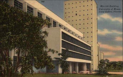 Merrick Building, University of Miami Coral Gables, Florida Original Vintage - Gables Coral Merrick