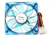 APEVIA CF12SL-UBL 120mm 4pin Ultra Blue LED Case Fan